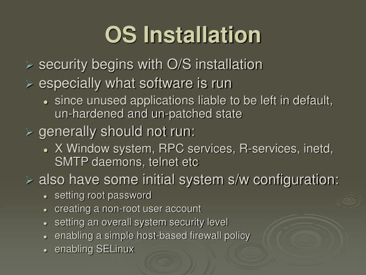 OS Installation