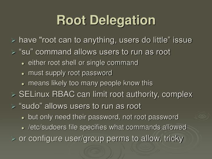 Root Delegation