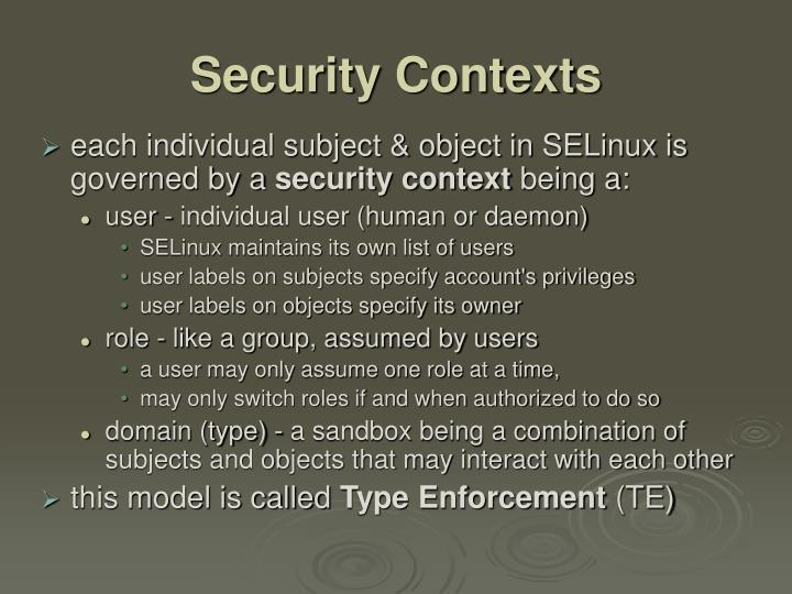 Security Contexts