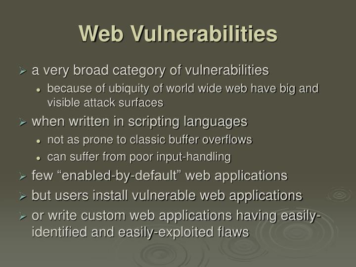 Web Vulnerabilities