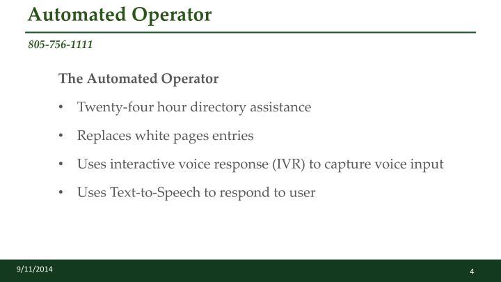 Automated Operator