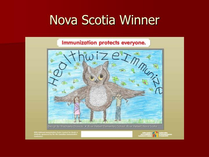 Nova Scotia Winner