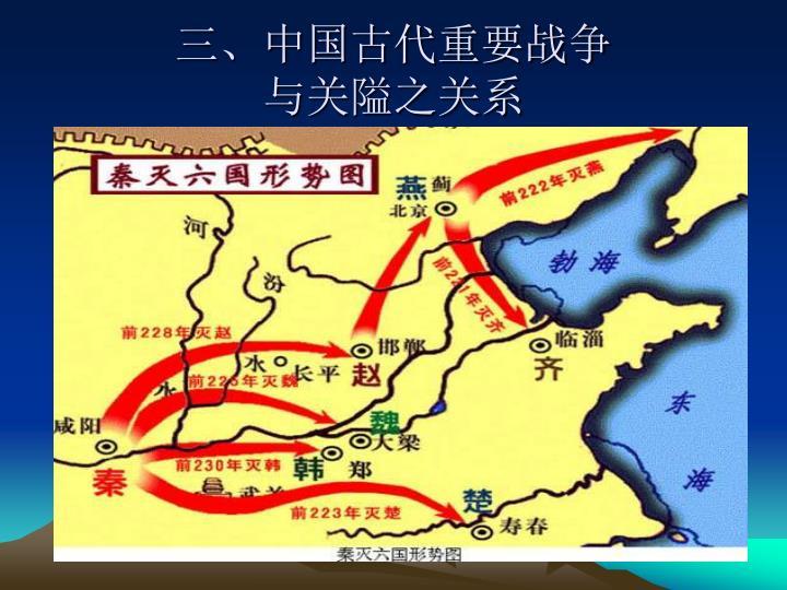 三、中国古代重要战争