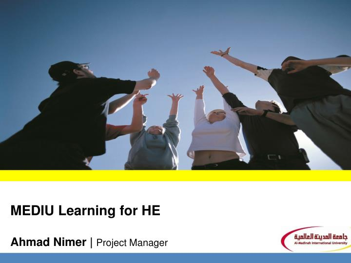 Mediu learning for he ahmad nimer project manager