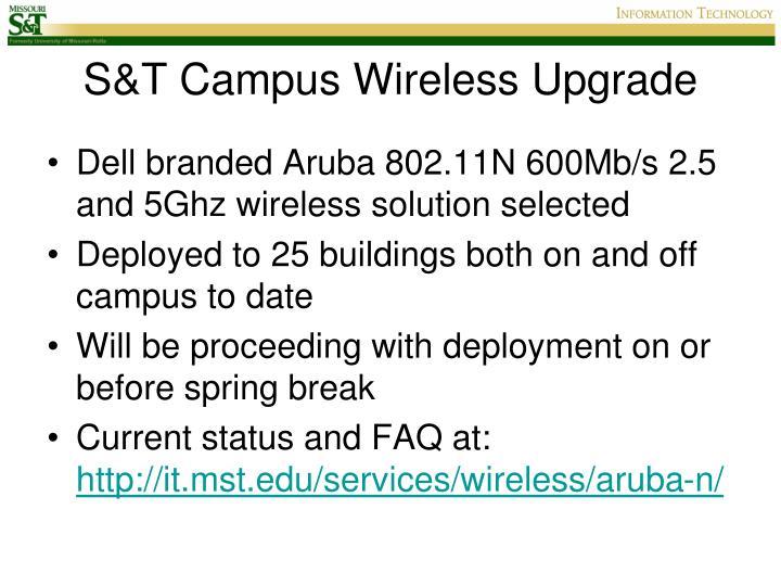 S&T Campus Wireless Upgrade
