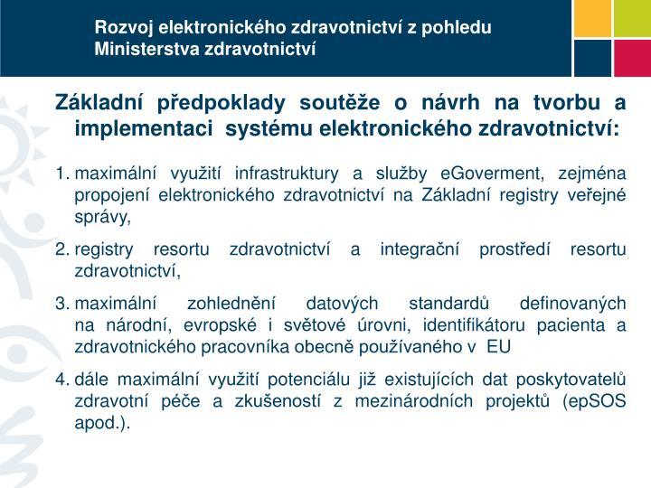 Rozvoj elektronického zdravotnictví z pohledu Ministerstva zdravotnictví