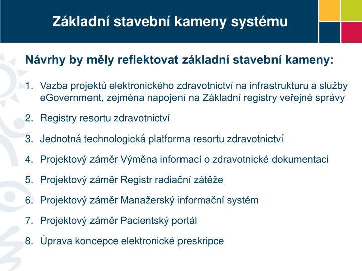 Základní stavební kameny systému