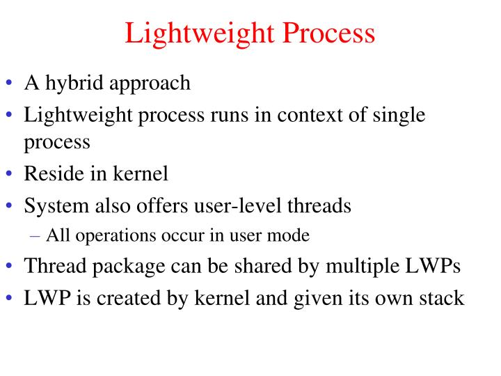Lightweight Process