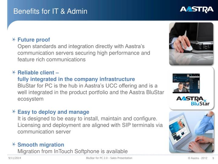 Benefits for IT & Admin