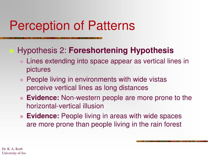 Perception of Patterns