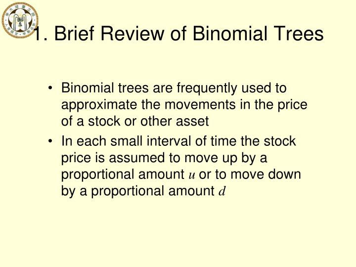 1. Brief Review of Binomial Trees