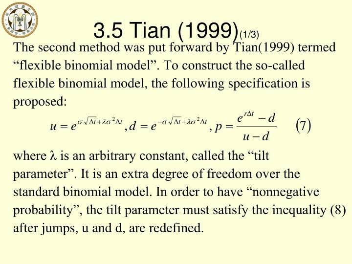 3.5 Tian (1999)