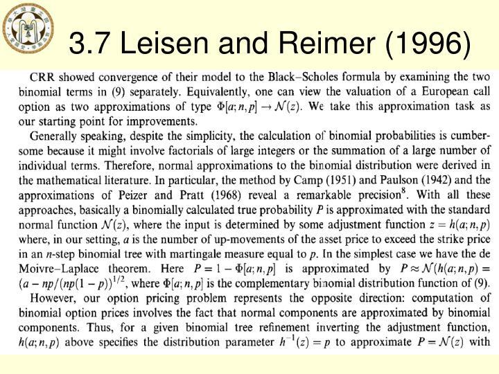 3.7 Leisen and Reimer (1996)