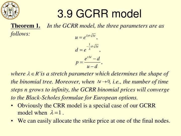 3.9 GCRR model