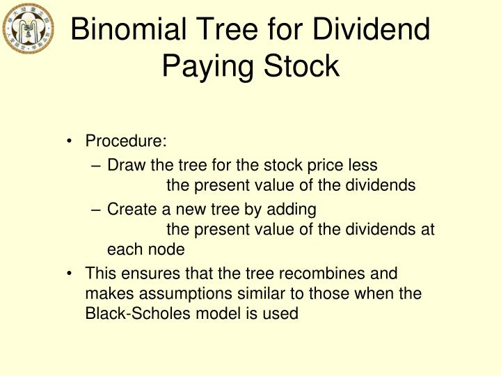 Binomial Tree for Dividend Paying Stock
