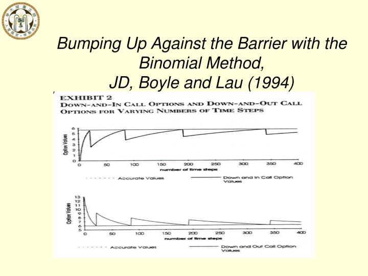 Bumping Up Against the Barrier with the Binomial Method,