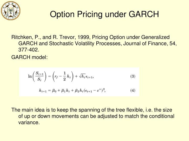 Option Pricing under GARCH