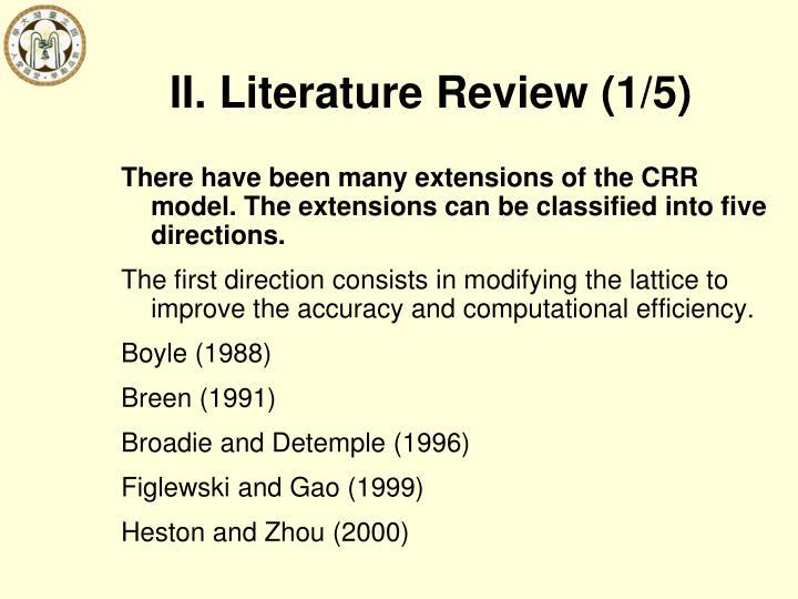 II. Literature Review (1/5)