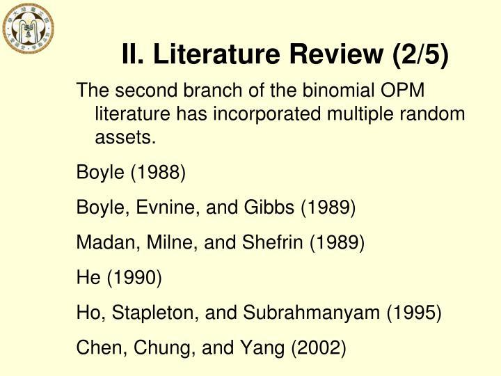 II. Literature Review (2/5)