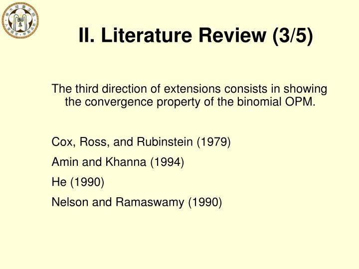 II. Literature Review (3/5)
