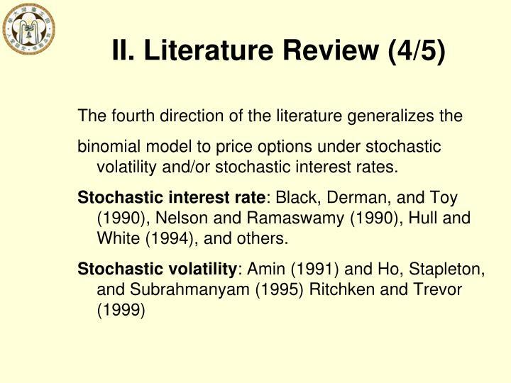 II. Literature Review (4/5)