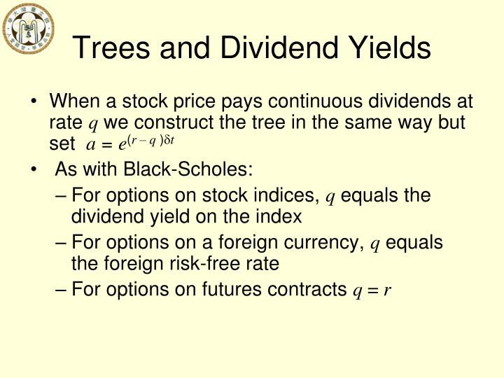 Trees and Dividend Yields