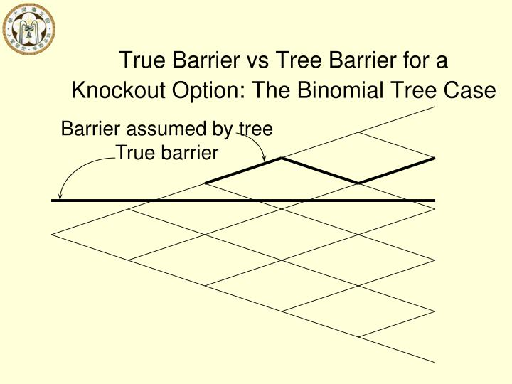 True Barrier vs Tree Barrier for a