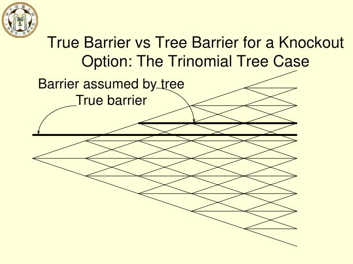 True Barrier vs Tree Barrier for a Knockout Option: The Trinomial Tree Case