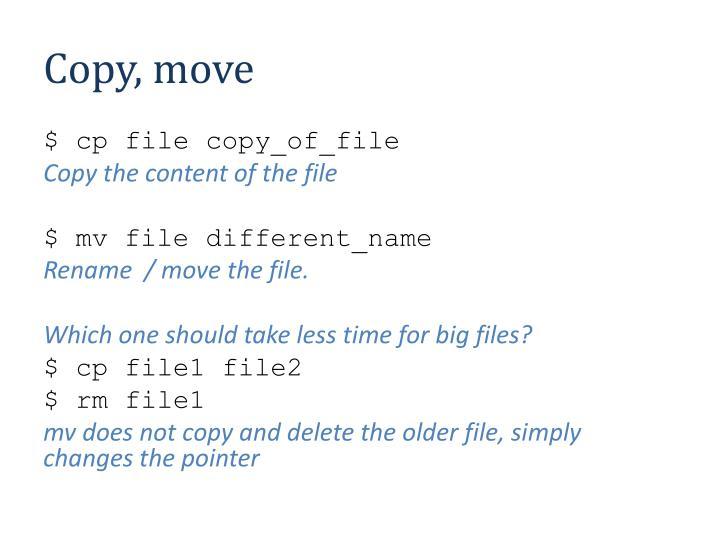 Copy, move