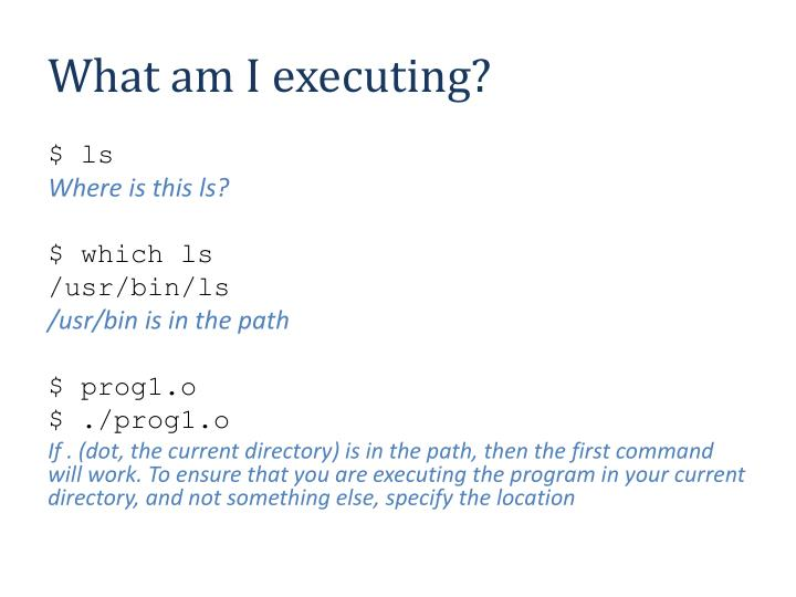 What am I executing?