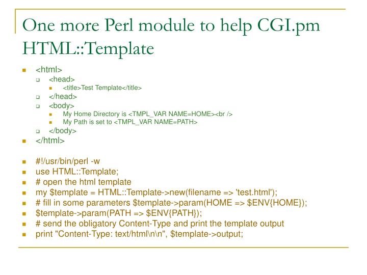 One more Perl module to help CGI.pm