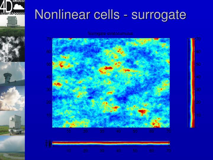 Nonlinear cells - surrogate