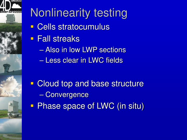 Nonlinearity testing
