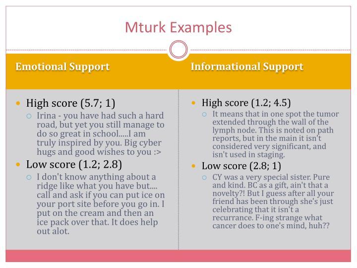 Mturk Examples