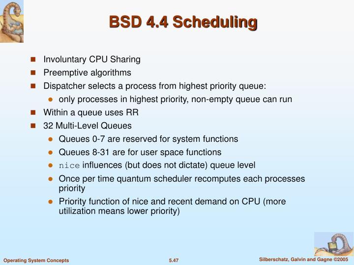 BSD 4.4 Scheduling
