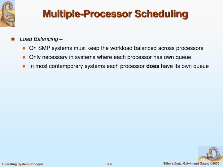Multiple-Processor Scheduling