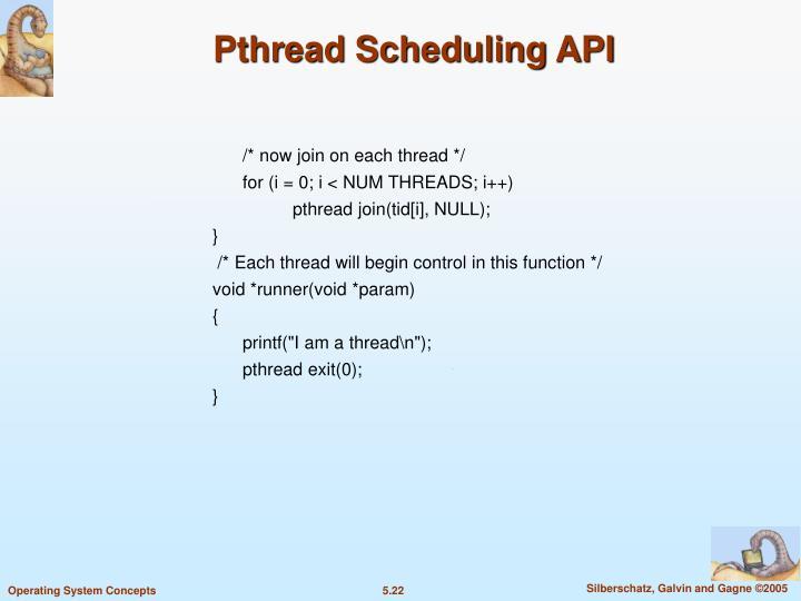 Pthread Scheduling API