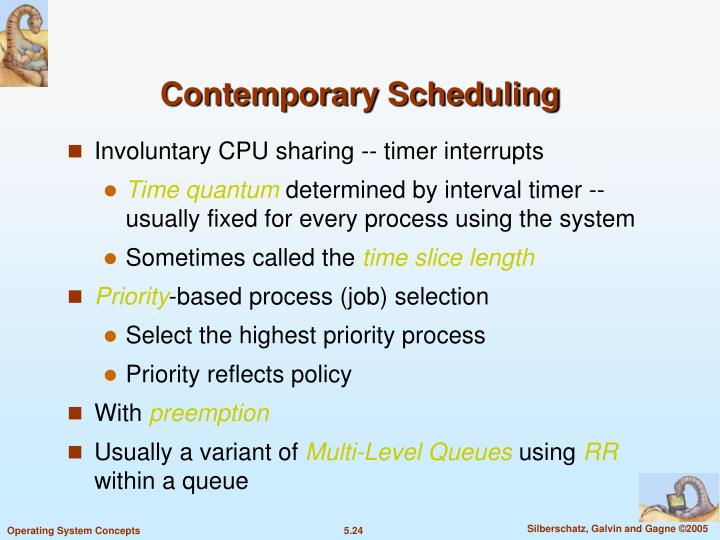 Contemporary Scheduling