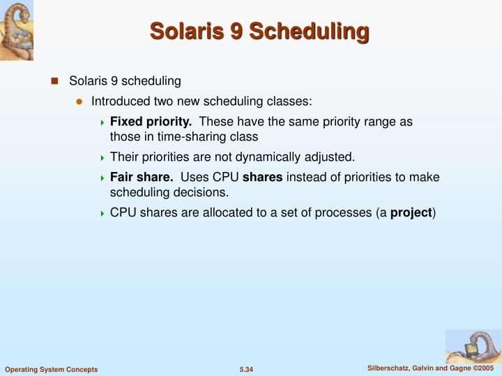 Solaris 9 Scheduling