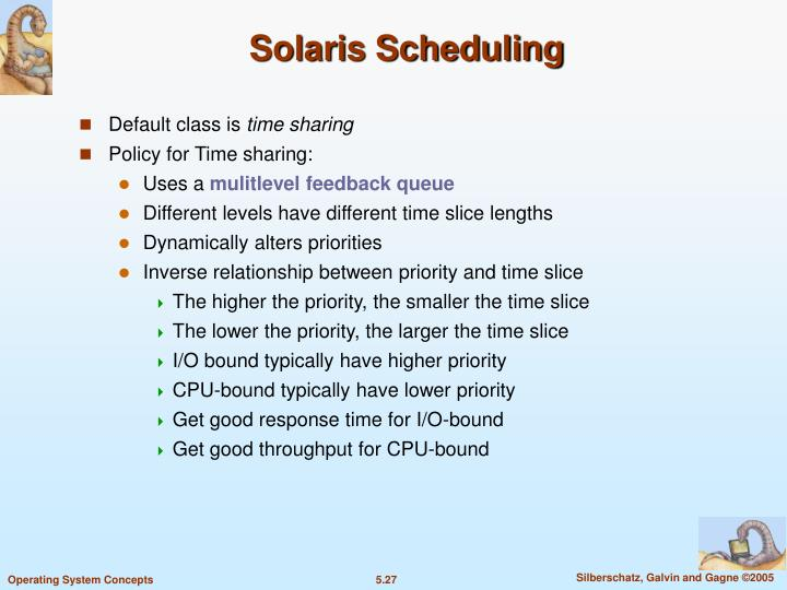Solaris Scheduling