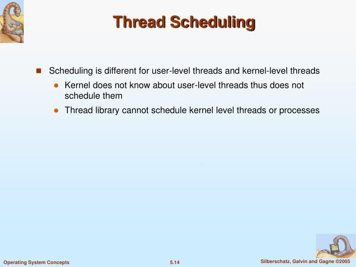 Thread Scheduling
