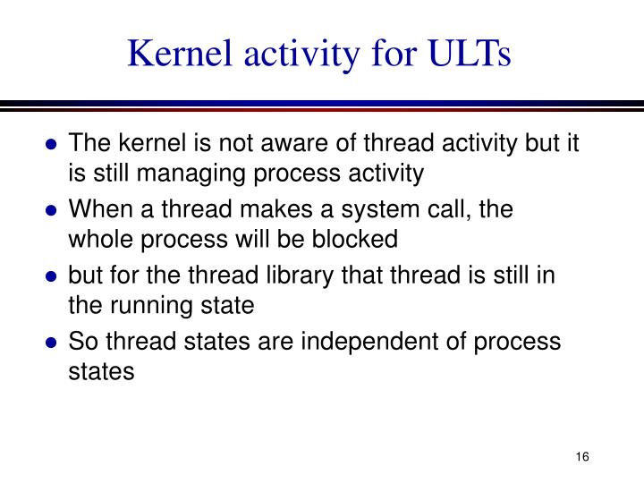 Kernel activity for ULTs