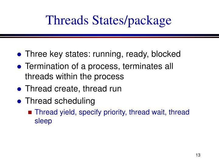 Threads States/package
