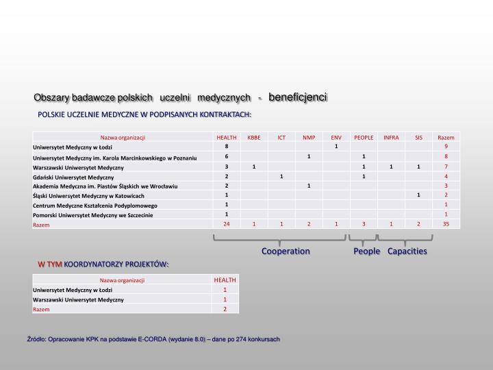 Obszary badawcze polskich