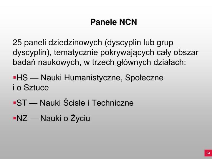 Panele NCN