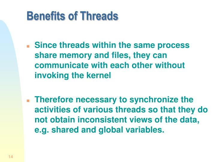 Benefits of Threads