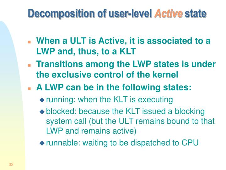 Decomposition of user-level