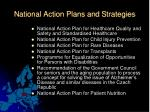 n ational action plans and s trategies