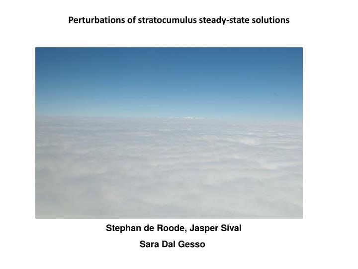 Perturbations of stratocumulus steady state solutions