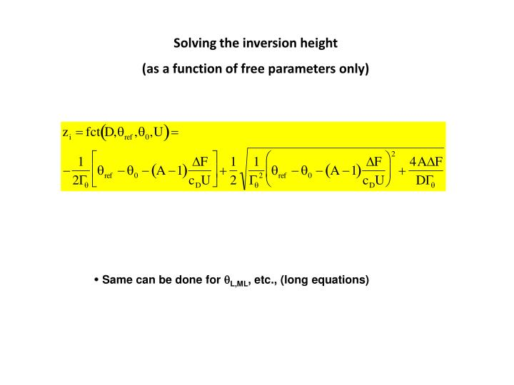 Solving the inversion height